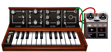 Robert Moog's 78th Birthday - Google Logo