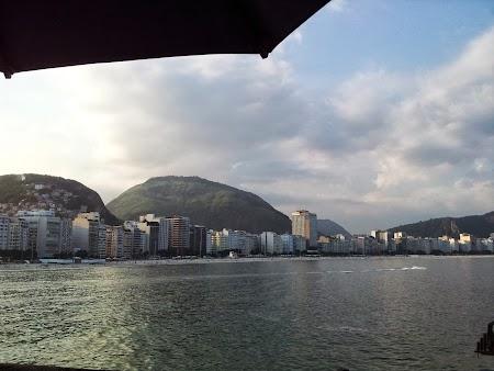 Obiective turistice Rio de Janeiro: Copacabana vazuta din Fort
