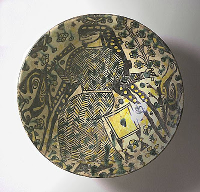 Bowl Iran, Nishapur Bowl, 10th century Ceramic; Vessel, Earthenware, buff slip, underglaze slip-painted, 3 1/4 x 9 in. (8.26 x 22.86 cm) The Nasli M. Heeramaneck Collection, gift of Joan Palevsky (M.73.5.203) Art of the Middle East: Islamic Department.