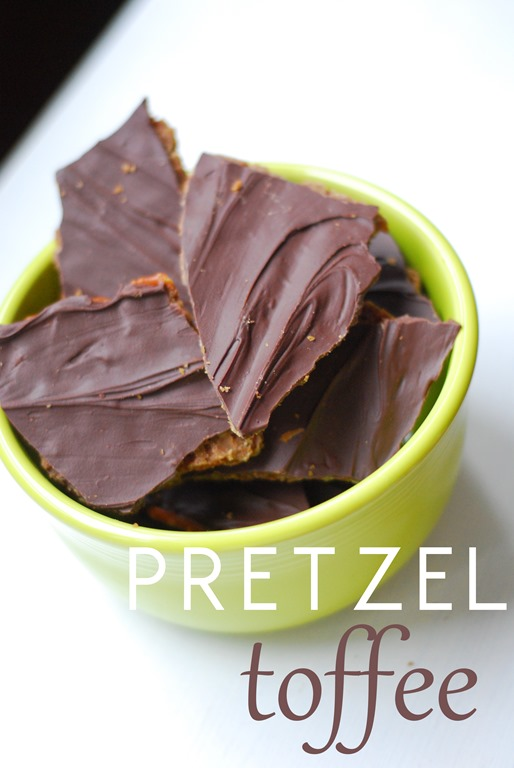 4 Ingredient Pretzel Toffee