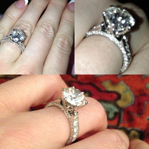 Crystal Harris Huge Engagement Ring from Hugh Hefner