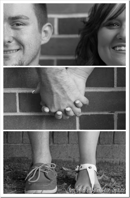 Ashley and Nate's Engagement Collage