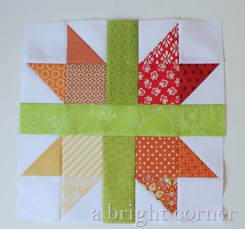 quilt block tutorial - a scrappy New England block
