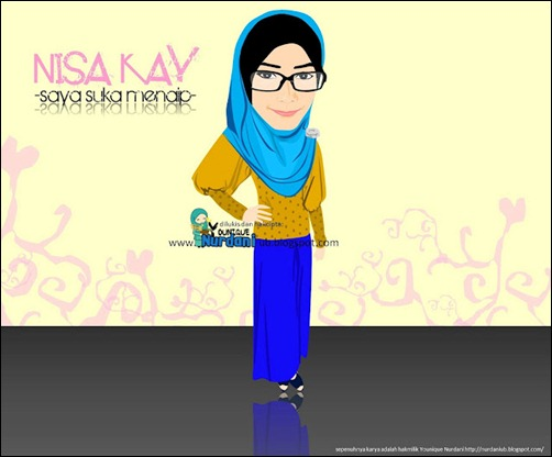 nisa kay caricature by dani
