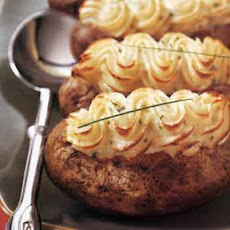 Twice-Baked Potatoes with Goat Cheese and Chives