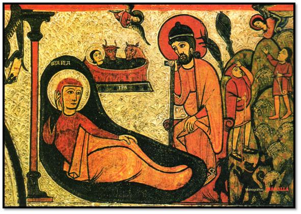 Detalle de la Natividad de Cardet (Lleida)