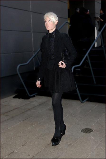1 w kate lanphear short jacket skirt all black 2 ol 1a