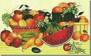 Frutta varia, disegno (Ellen Stouffer 1999)