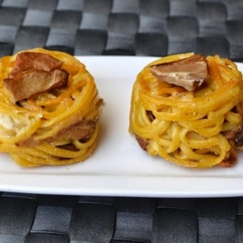 Ζυμαρικά noodles με μανιτάρια πορτσίνι