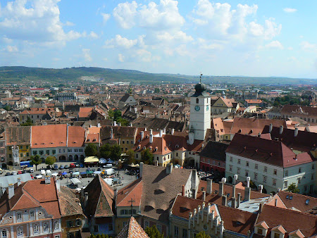 Imagini Romania: vedere panoramica Sibiu