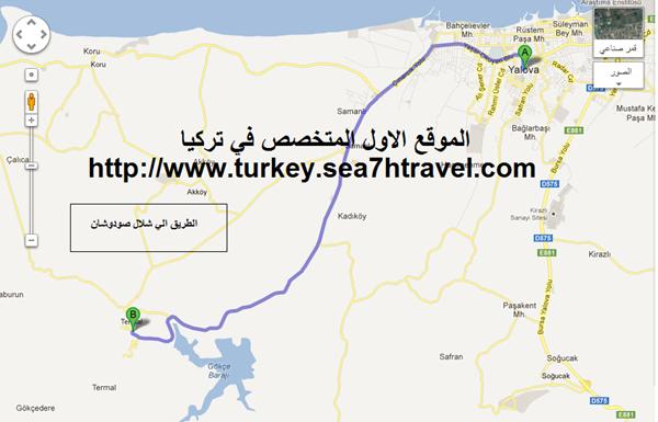 خريطة سياحية الي تركيا