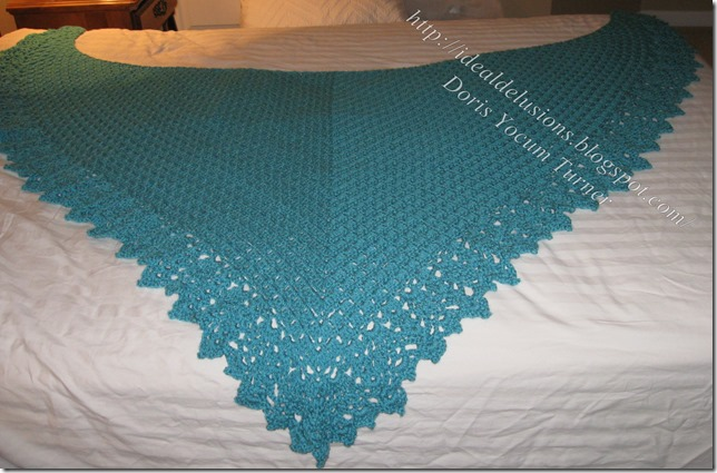 Ideal Delusions So Simple Box Stitch Shawl