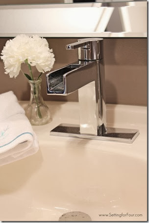 Pfister Vega faucet with waterfall spout from Setting for Four