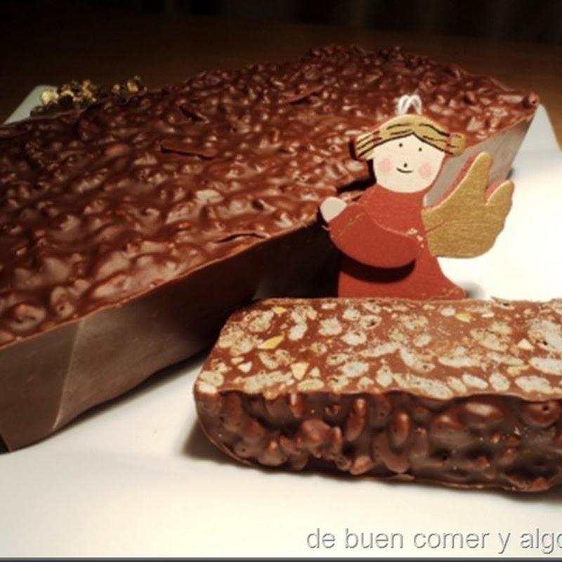 TURRÓN DE CHOCOLATE CRUJIENTE FACIL Y RAPIDO