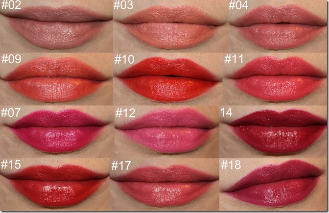 bourjois lipstick rouge swatches