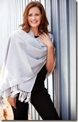 Silver Grey Cashmere Stole