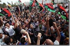 Libyans celebrate Gaddafi Death
