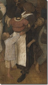 Mujer bebiendo miestras es robada - El vino de la Fiesta de San Martín - Bruegel el Viejo