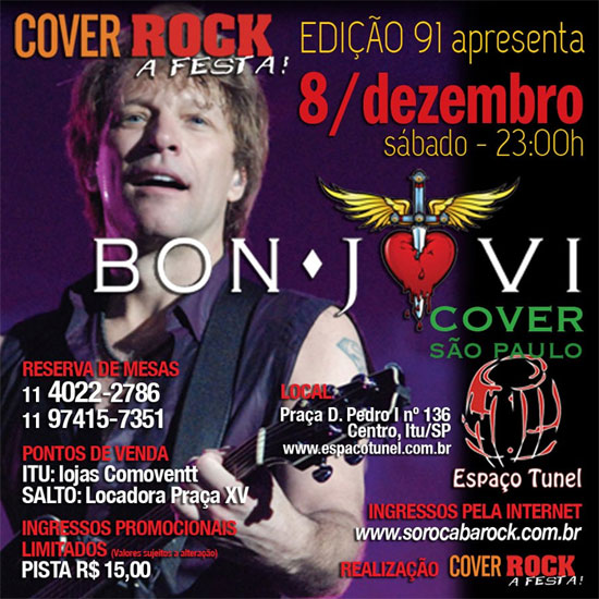 Bon Jovi Cover no Espaço Tunel em Itu