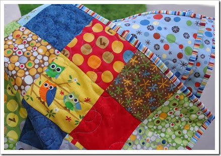 Loopy quilting on charm pack quilt