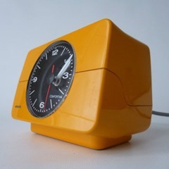 yellow Krups alarm clock side