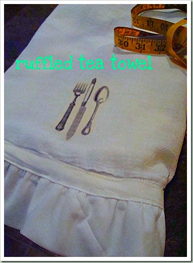 northern cottage ruffled tea towel