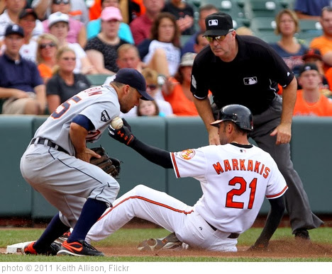 'Ryan Raburn, Nick Markakis' photo (c) 2011, Keith Allison - license: http://creativecommons.org/licenses/by-sa/2.0/