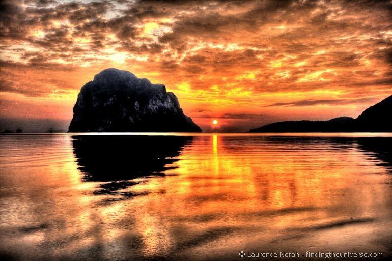 Sunset pak meng beach trang thailand