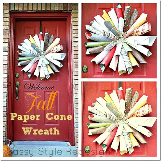 paper wreath collage