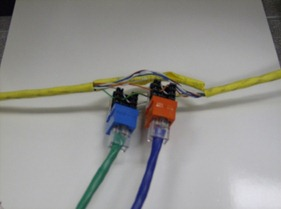 A network cable wiretap