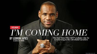 2014 lebron james cleveland cavaliers LeBron James Returns To Cleveland!!!