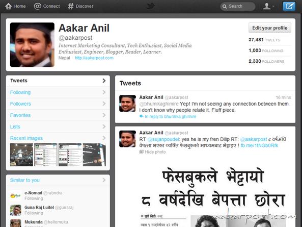 new twitter aakarpost profile