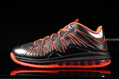nike lebron 10 low gr black orange 2 04 Nike Air Max LeBron X Low Black / Orange (579765 001)