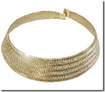 Grecian Gold Woven Necklace