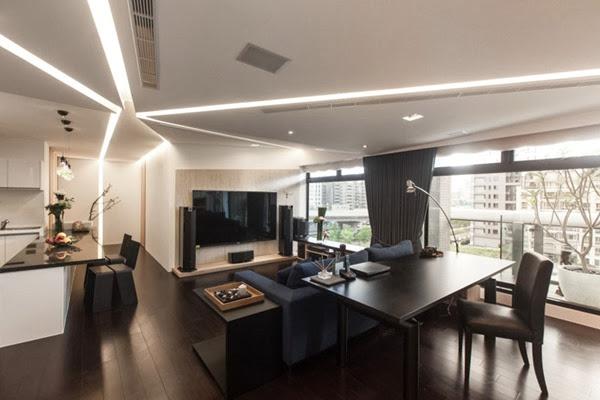 Departamento estilo moderno en taiw n arquitexs for Adornos para departamentos