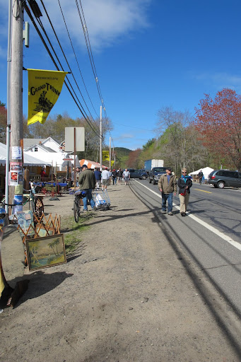 Brimfield stretches along one long road -- the main thoroughfare for shoppers.