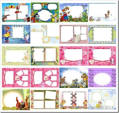 Coleção de molduras infantis variadas#1