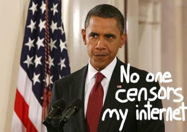 Fermeture de Wikipedia le 18 janvier 2012 obama sopa