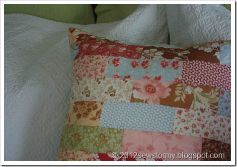 Butterscotch and Roses Pillow 2