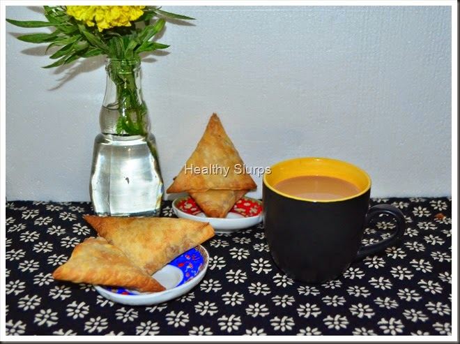 Inviting cuppa and crispy samosas