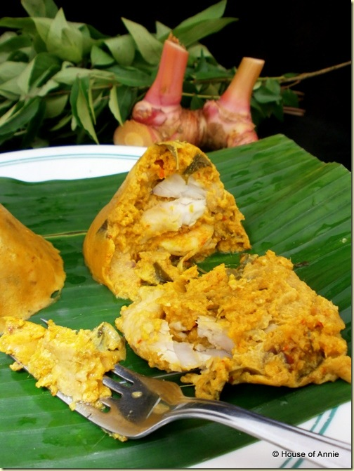 Delicious teamed otak-otak