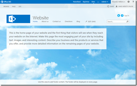 Office 365 Public Site 2013