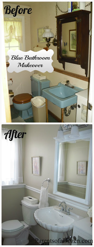 Blue Bathroom Makeover 4