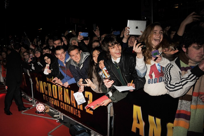 Dublin – 9th December 2013: Fans attend the Dublin Premiere of Anchorman 2 – Credit: Clodagh Kilcoyne for Paramount Pictures International via Getty Images