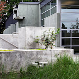 The University of Western States' integrally colored cast in place concrete Anatomy building.
