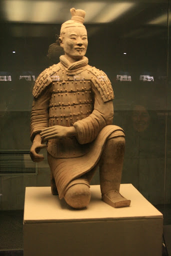 The Kneeling Archer, one of the best preserved examples, 160 of these were found and would have held crossbows.