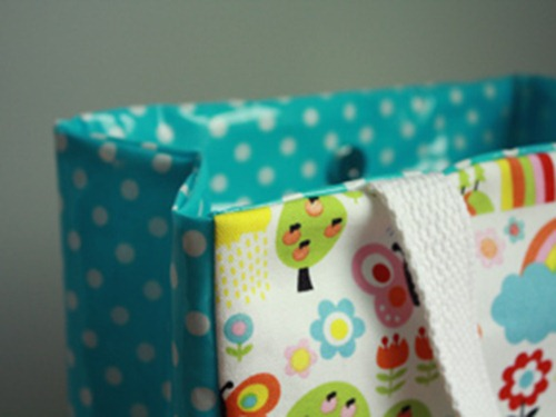 oil cloth lunch bag tutorial