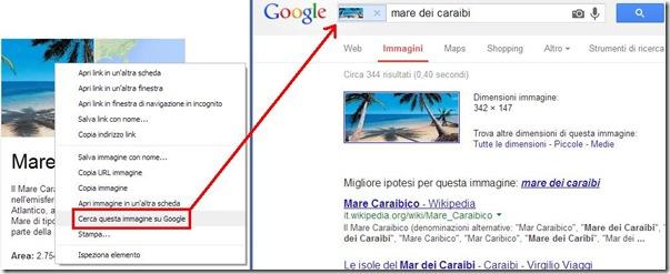 Chrome Cerca questa immagine con Google