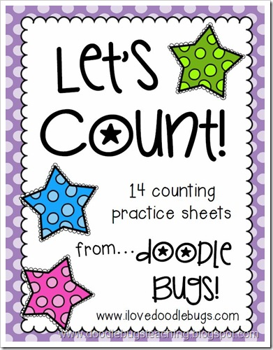 Doodle Bugs Teaching {first grade rocks!}: Math Counting Sheets