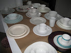 Here are some of our whites and patternless plates.